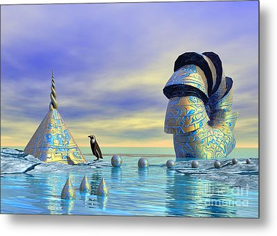 Lost And Found - Surrealism Metal Print by Sipo Liimatainen