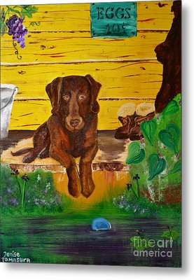 Metal Print featuring the painting Lost Ball by Denise Tomasura