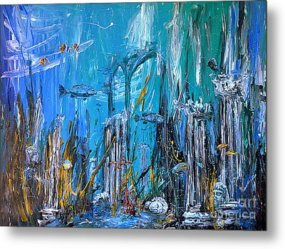 Metal Print featuring the painting Lost City by Arturas Slapsys
