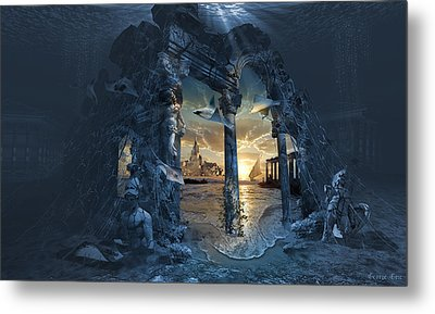 Lost City Of Atlantis Metal Print