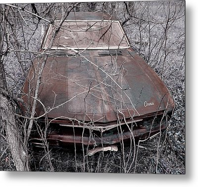 Metal Print featuring the photograph Lost Corvair Adjustment  by Christopher McKenzie