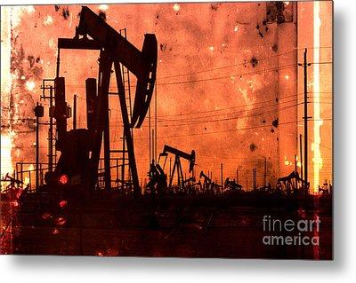 Lost Hills Oil Metal Print
