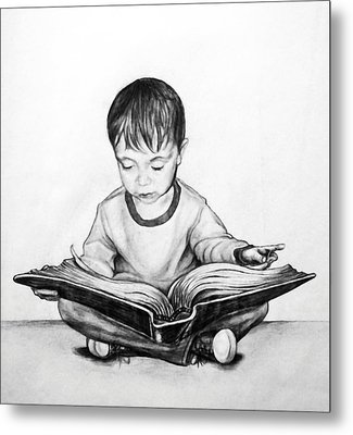 Lost In A Book Metal Print