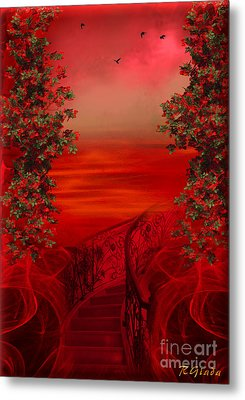 Lost In Red - Surreal Art By Giada Rossi Metal Print by Giada Rossi