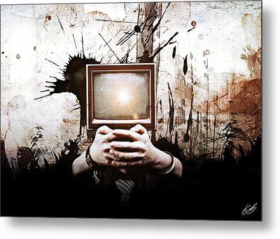Lost In The Media Metal Print by Aj Collyer
