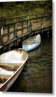 Lost Lake Boardwalk Metal Print by Michelle Calkins