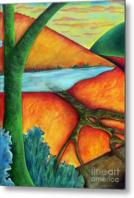 Metal Print featuring the painting Lost Land 1 by Elizabeth Fontaine-Barr