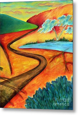 Metal Print featuring the painting Lost Land 2 by Elizabeth Fontaine-Barr