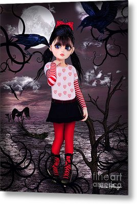 Lost Little Girl Metal Print
