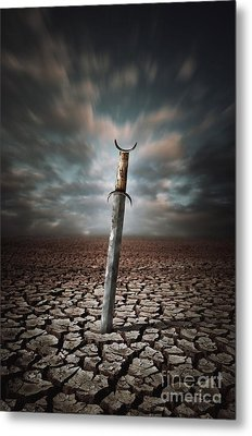Lost Sword Metal Print by Carlos Caetano