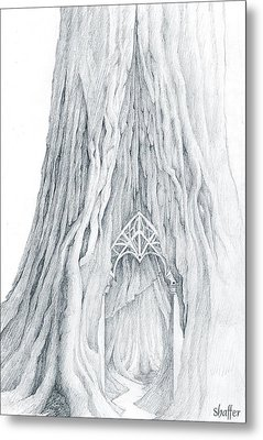 Lothlorien Mallorn Tree Metal Print by Curtiss Shaffer
