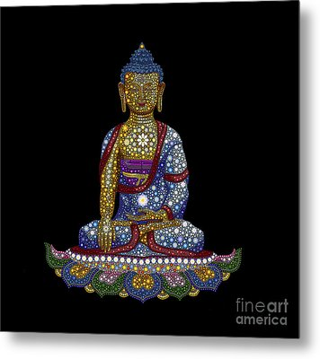Lotus Buddha Metal Print by Tim Gainey