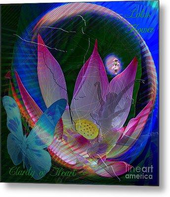 Lotus Flower Energy Metal Print