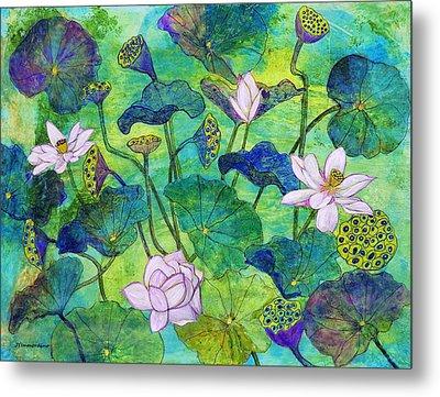 Lotus  Metal Print by Janet Immordino