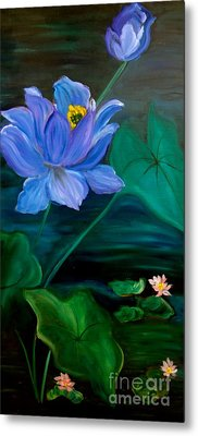 Lotus Metal Print by Jenny Lee