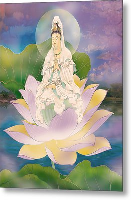 Lotus-sitting Avalokitesvara  Metal Print by Lanjee Chee