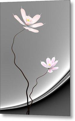 Lotus Twins Metal Print by GuoJun Pan