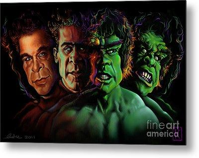 Lou Ferrigno Hulk Metal Print