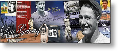 Lou Gehrig Panoramic Metal Print by Retro Images Archive