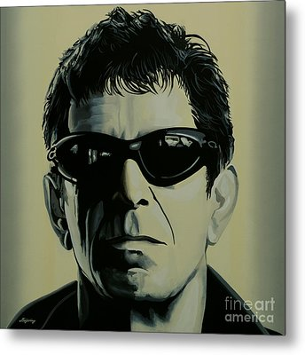 Lou Reed Painting Metal Print