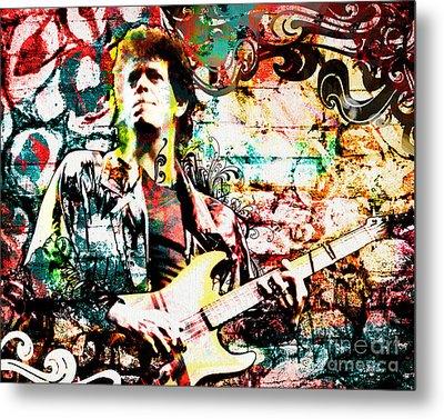 Lou Reed - Velvet Underground Original Painting Print Metal Print