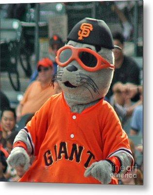 Lou Seal San Francisco Giants Mascot Metal Print