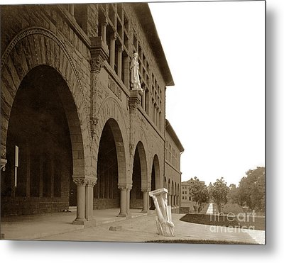 Louis Agassiz In The Concrete Most Famous Image Associated With Stanford University 1906 Earthquake Metal Print by California Views Mr Pat Hathaway Archives