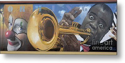 Louis Armstrong Metal Print by Bob Christopher