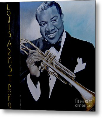 Louis Armstrong Metal Print by Chelle Brantley