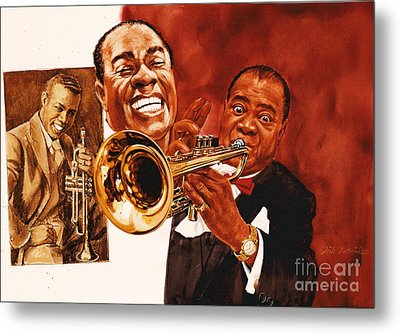 Louis Armstrong Metal Print by Dick Bobnick