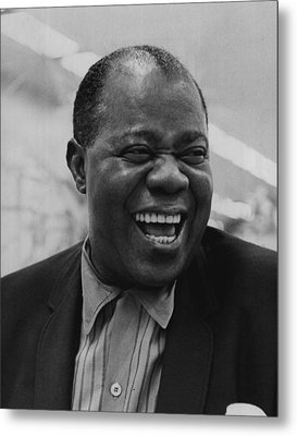 Louis Armstrong Smiles Broadly Metal Print