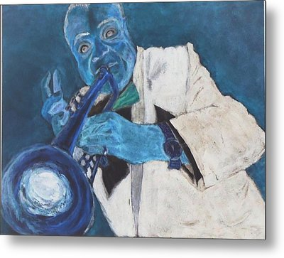 Louis In Blue Metal Print by Katie Spicuzza