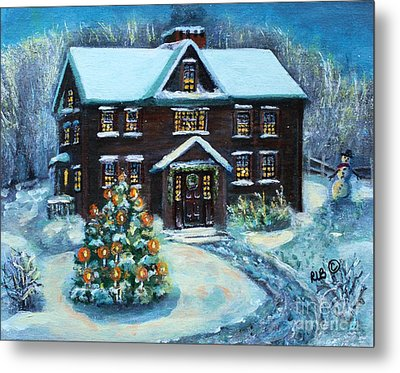 Louisa May Alcott's Christmas Metal Print