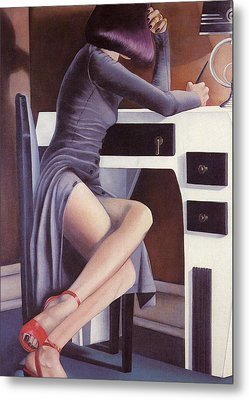 Metal Print featuring the painting Louise by Mary Ann  Leitch