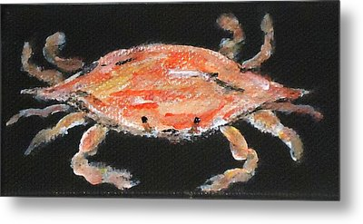 Louisiana Crab Metal Print by Katie Spicuzza