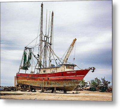 Louisiana Shrimp Boat Metal Print
