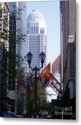 Louisville Buildings 2 Metal Print by Jennifer E Doll