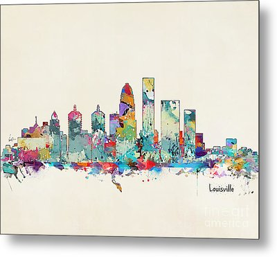 Louisville Kentucky Skyline Metal Print by Bri B