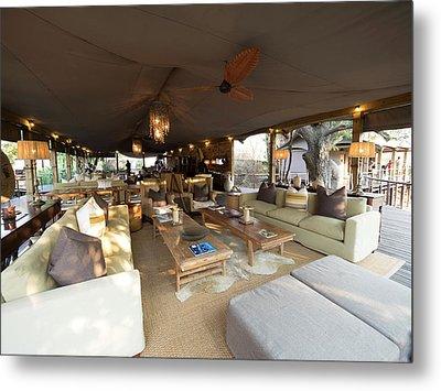 Lounge Area, Toka Leya Camp, Zambezi Metal Print by Panoramic Images