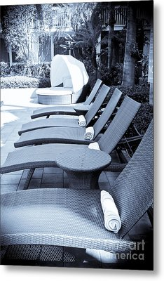 Lounge Chairs Metal Print by Sophie Vigneault