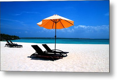 Metal Print featuring the photograph Lounging By The Sea by Joey Agbayani