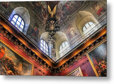 Metal Print featuring the photograph Louvre Ceiling by Glenn DiPaola