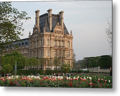 Metal Print featuring the photograph Louvre Museum by Jennifer Ancker