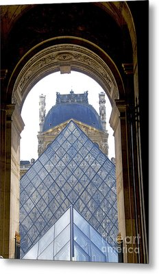 Louvre Palace Museum.paris. France Metal Print by Bernard Jaubert