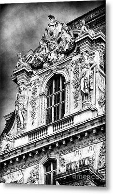 Louvre Palace Window Metal Print by John Rizzuto