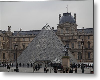 Louvre - Paris France - 011314 Metal Print by DC Photographer