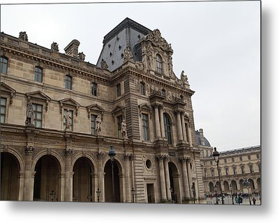 Louvre - Paris France - 011317 Metal Print by DC Photographer