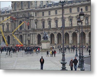 Louvre - Paris France - 011324 Metal Print by DC Photographer