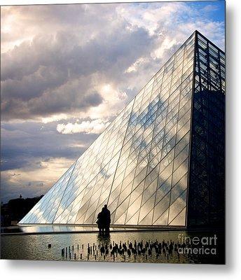 Louvre Pyramid. Paris Metal Print by Bernard Jaubert