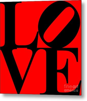Love 20130707 Black Red Metal Print by Wingsdomain Art and Photography
